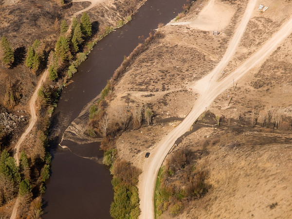 Aerial Photos of Debris Flows
