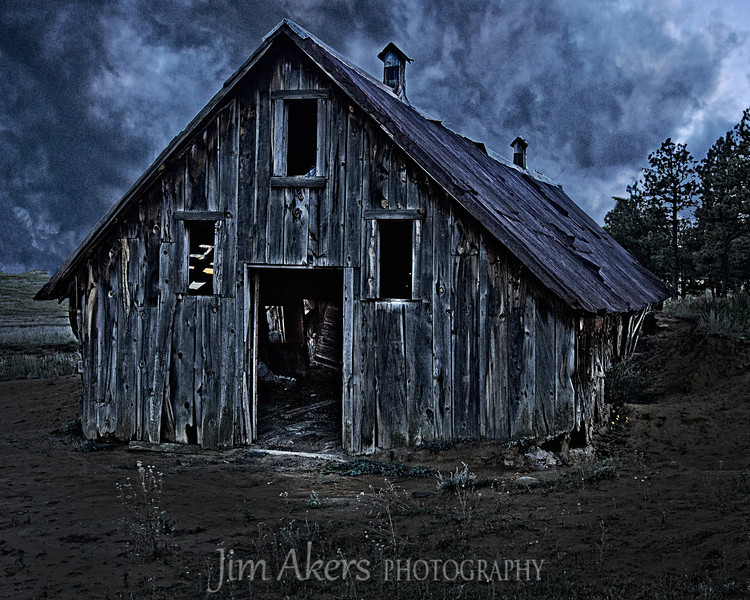 The Barn Ruins were falling apart from age.  The wood was fantastic in color and weathered from many winters and summers.