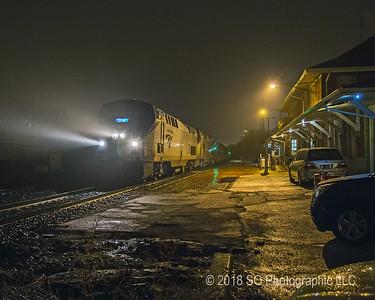 Midnight Amtrak in Elkhart