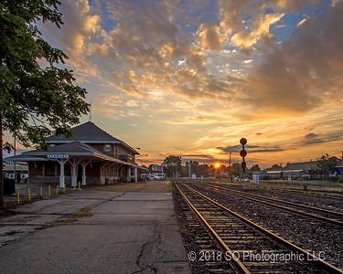 Sunrise at the Elkhart Depot