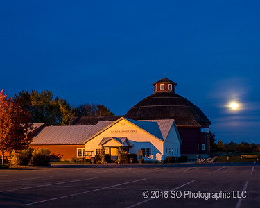 Cloudy Moonrise at Amish Acres
