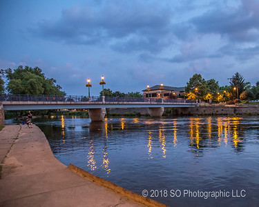 Evening at Island Park Bridge