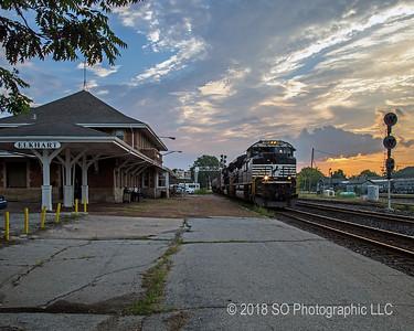 Freight Train Through Elkhart