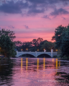 Main St Memorial Bridge After Sunset