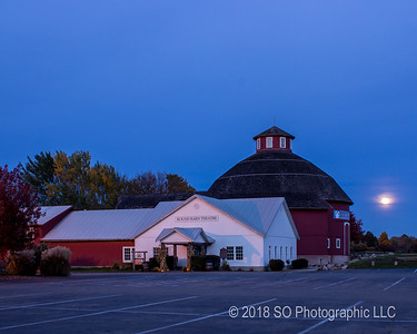 Cloudy Moonrise at Amish Acres 2