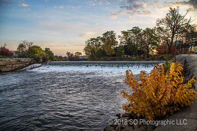 Elkhart River Dam in Autumn
