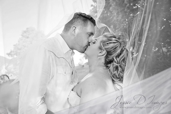 Jessie D Images - Fernbank farm wedding - Under veil kiss