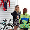 2016 U23 USA Women's National CX champion Ellen Noble talks with a young fan