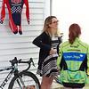 2016 U23 USA Women's National CX champion Ellen Noble talks with a young fan