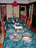 The table set for Christmas dinner - just add family!