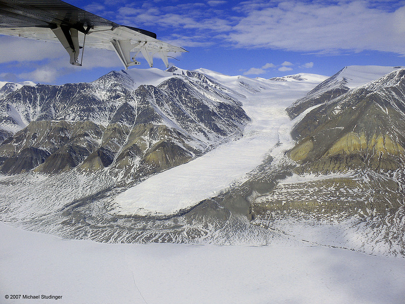 A small glacier on Ellesmere Island.