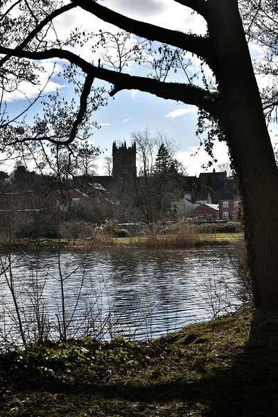 The Mere and St. Marys church, Ellesmere.