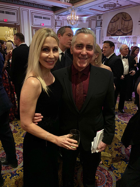 Auctioneer Billy Costa of KISS 108 and NESN with the lovely Michelle Steele