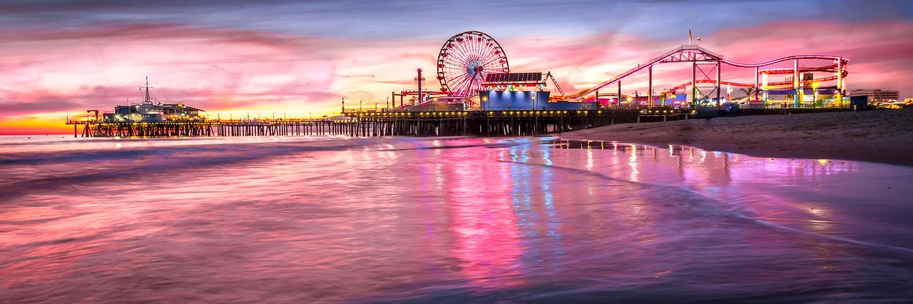 Santa Monica Pier Winter Sunset