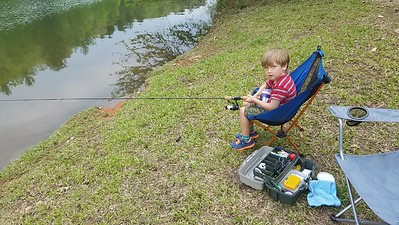 fishing at the Piney Mountain pond