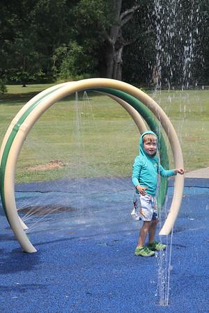 at the Forest Hills Park sprayground