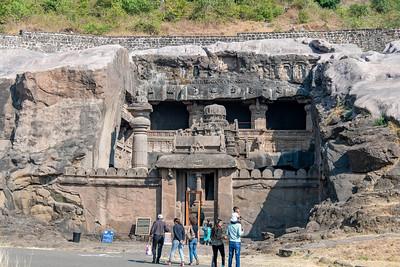 Ellora Cave 32, Jain religion temple.