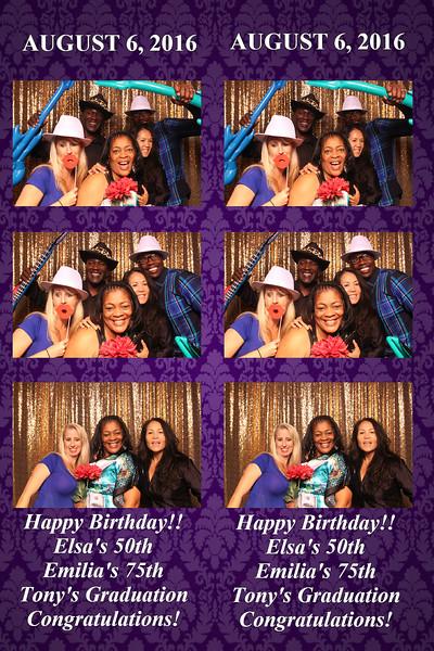 Elsa's 50th, Emilia's 75th, Tony's Graduation Celebration  |  08.06.16