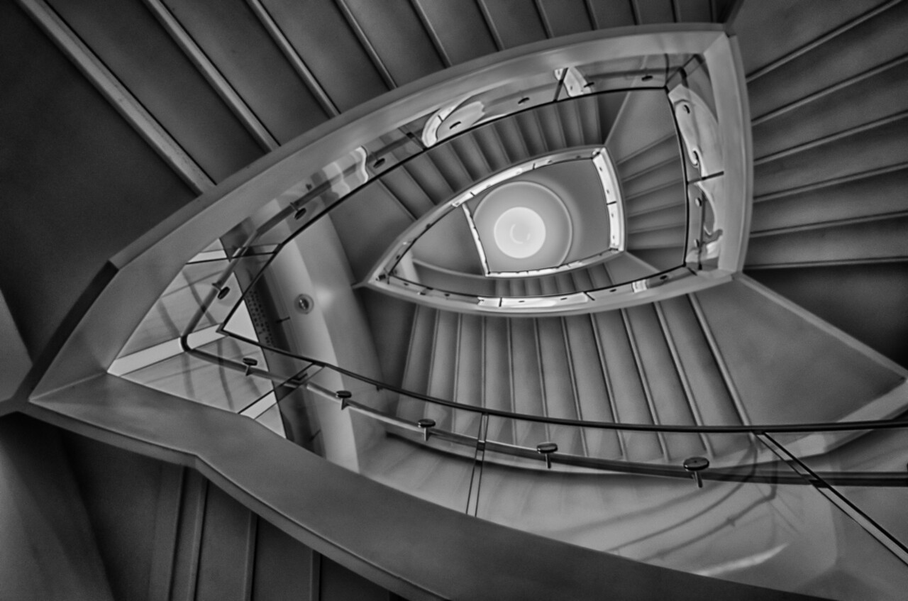 Staircase at Overture Center for the Arts, Madison, WI
