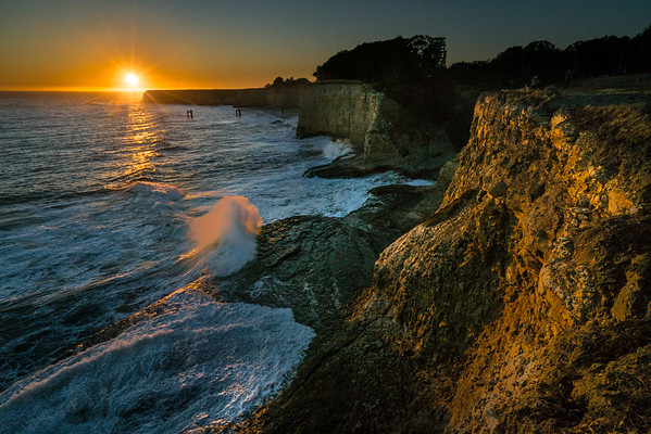 Sunset at Davenport, California