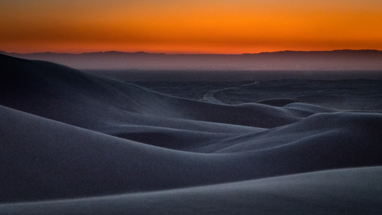 Evening Falls at Imperial Sand Dunes