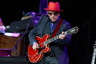 Elvis Costello & The Imposters live at The Michigan Theater  on 10-30-2016.  Photo credit: Ken Settle