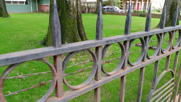 Was this barbed wire put up during Elvis time here?
