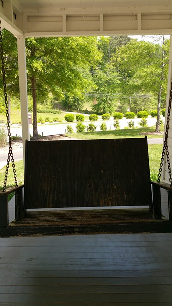 My favourite  part..I love porch swings