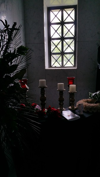 Inside the crypt