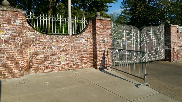 The walls have been etched by countless visitors names