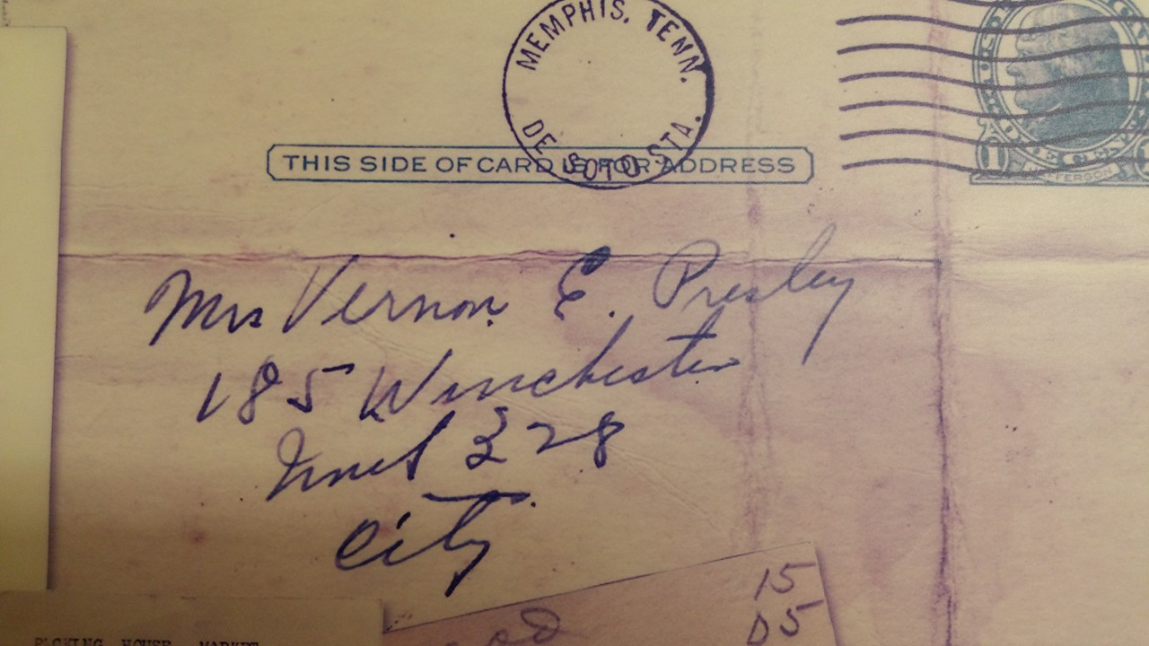 An original letter with their address