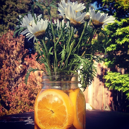 A DIY mason jar centerpiece - Sunset Celebration Weekend 2014