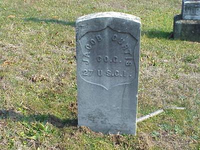 Jacob Curtis (27 USCI, Co. G.) Grave -- Stafford