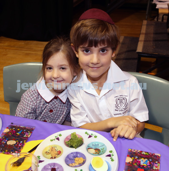 Emanuel infants demo Seder. Noah Gottlieb & Becky Salamon.