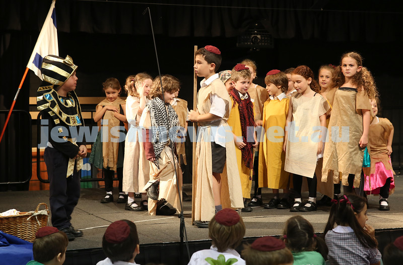 Emanuel infants demo Seder. Kids perform in a play.