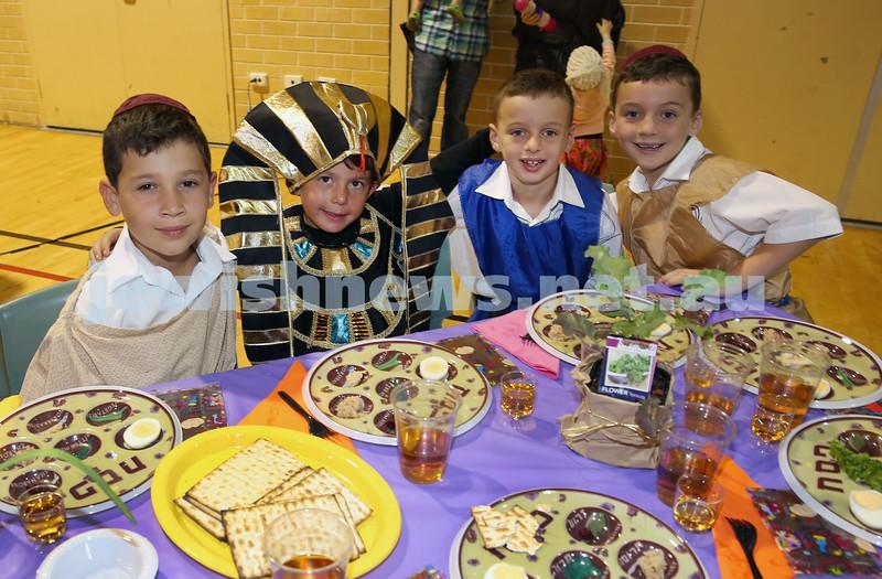 Emanuel infants demo Seder. Zack Gerber, Nicholas Dery, Jed Gottlieb, Jake Joffe.