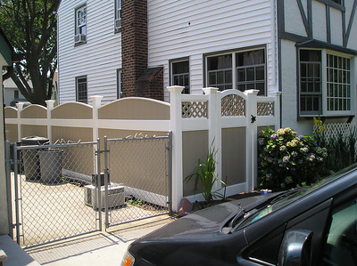 Abode and White Emobssed Lakeland Convex and Hollingsworth Fence