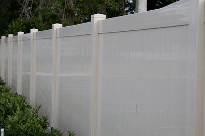 Almond Embossed Lakeland Fence