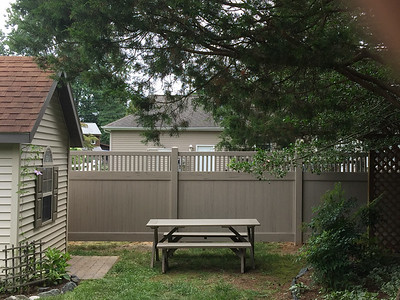 Custom Adobe Streaked and Embossed Montauk Fence