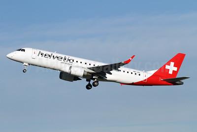 Helvetic Airways' first Embraer 190