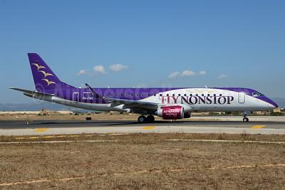 FlyNonstop (Denim Air) Embraer ERJ 190-100LR PH-FNS (msn 19000616) PMI (Ton Jochems). Image: 912778.