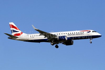 British Airways-BA CityFlyer Embraer ERJ 190-100SR G-LCYO (msn 19000430) PMI (Javier Rodriguez). Image: 912475.