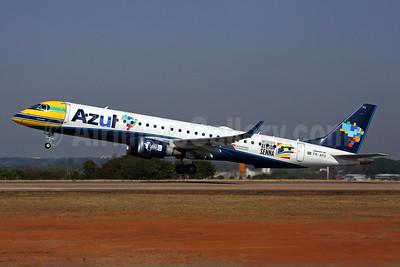 Azul's dedicated logo jet for Ayrton Senna