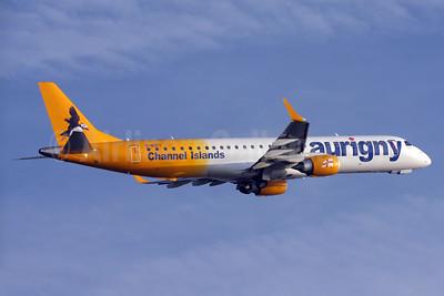 Aurigny Air Services (Aurigny.com) Embraer ERJ 190-200 (ERJ 195) G-NSEY (msn 19000671) LGW (David Apps). Image: 924741.