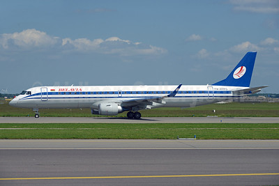 Belavia's new type, newly delivered Embraer 195 EW-400PO