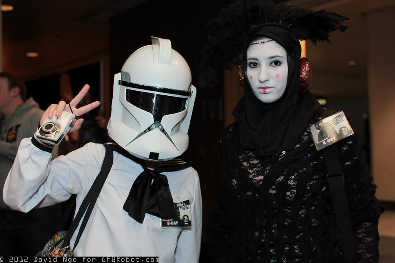 Clone Trooper and Queen Padme Amidala