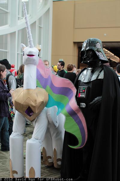 Princess Celestia and Darth Vader