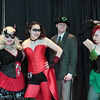 Harley Quinns, Riddler, and Poison Ivy