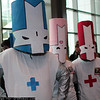 Blue Knight, Pink Knight, and Red Knight