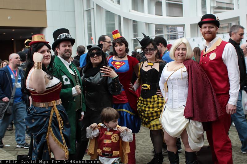 Wonder Woman, Green Lantern, Catwoman, Supergirl, Batgirl, Power Girl, Flash, and Robin